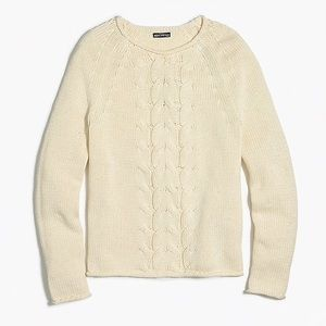 J crew cotton Cable-knit rollneck sweater
